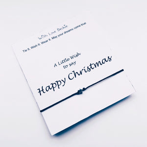 A Little Wish To Say Happy Christmas Wish String