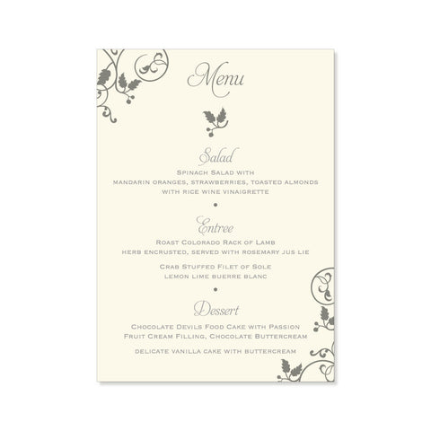 The Savannah Menu