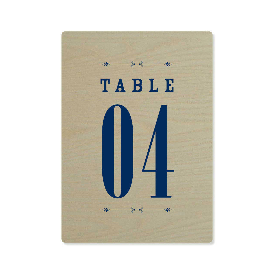 The Telluride Table Numbers