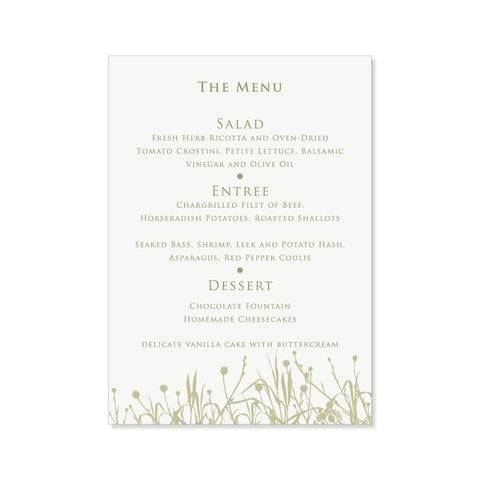 The Yellowstone Menu