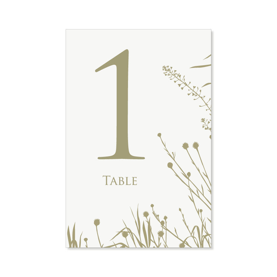 The Yellowstone Table Numbers