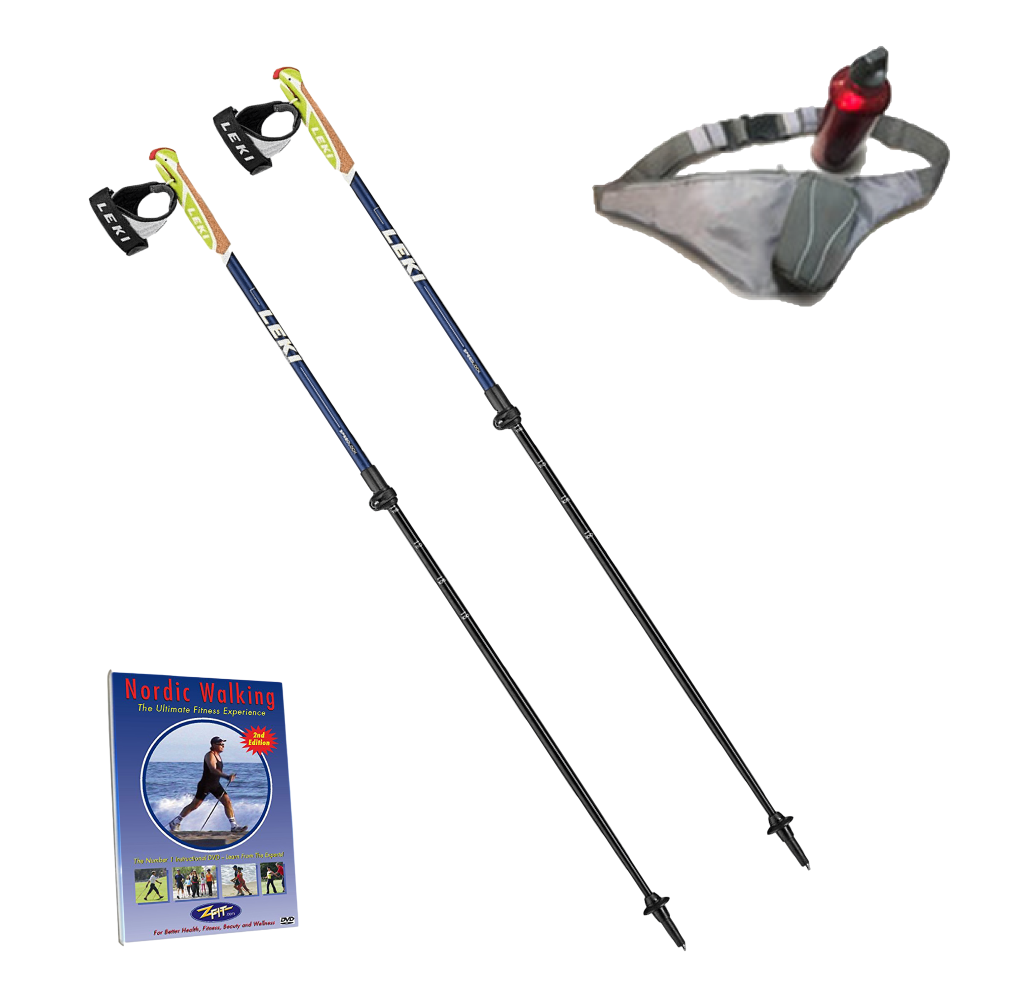 LEKI SPIN SHARK SL STARTER PACKAGE 2 - Fully Adjustable