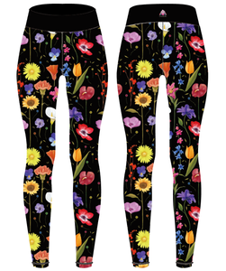 Happy Flowers (without faces) Children's Active Leggings