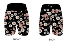 Load image into Gallery viewer, Black Daisies Women's Active Shorts - PLEASE READ BEFORE ORDERING