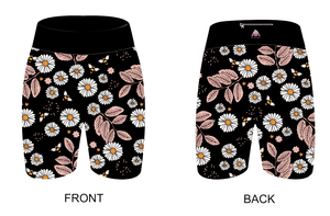 Black Daisies Women's Active Shorts - PLEASE READ BEFORE ORDERING