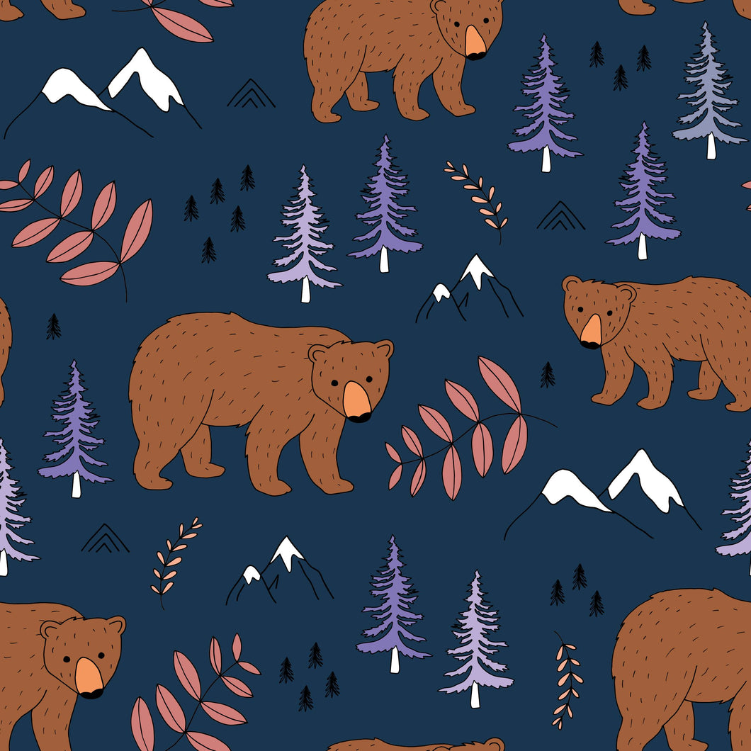 Woodland Bear Women's Cotton Jersey Leggings - PLEASE READ BEFORE ORDERING