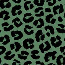 Load image into Gallery viewer, Green Leopard Women's Activewear Leggings Regular Length
