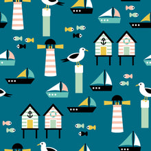 Load image into Gallery viewer, Beach Huts & Seagull Women's Activewear Leggings Regular Length
