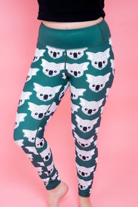 "Koala Women's Activewear Leggings - Petite 24"" inside leg"