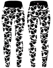 Load image into Gallery viewer, Monochrome Panda Children's Active Leggings