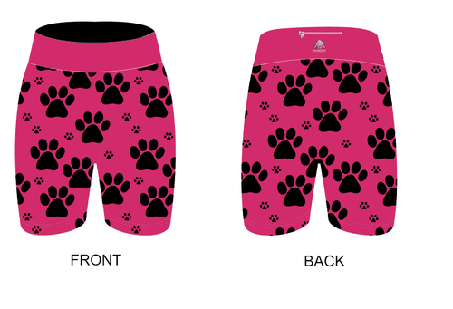 Pink Paw Print Women's Active Shorts