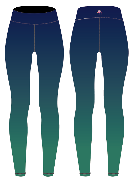 Navy/Green Ombre Children's Active Leggings