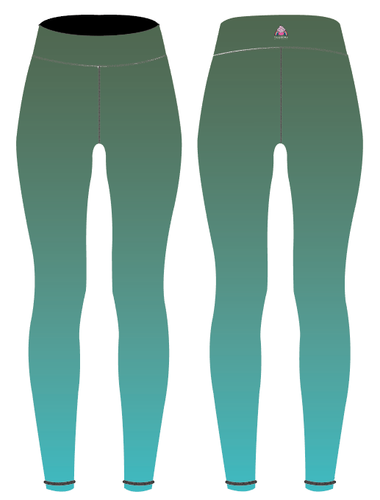 Sage/Turquoise Ombre Children's Active Leggings - PLEASE READ BEFORE ORDERING