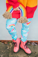 Load image into Gallery viewer, Love & Rainbows Sky Blue Active Leggings Regular Length