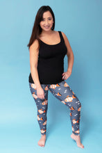 "Load image into Gallery viewer, Bubbles the Clownfish Women's Activewear Leggings - Tall 33"" inside leg"