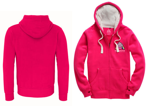 Women's Pink Rainbows & Sprinkles Zip Up Hoodie (no logo on back) - PLEASE READ BEFORE ORDERING