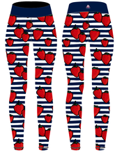 Load image into Gallery viewer, Strawberry & Stripes Capri Women's Activewear Leggings - PLEASE READ BEFORE ORDERING