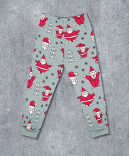 Load image into Gallery viewer, Geometric Christmas Santa Leggings