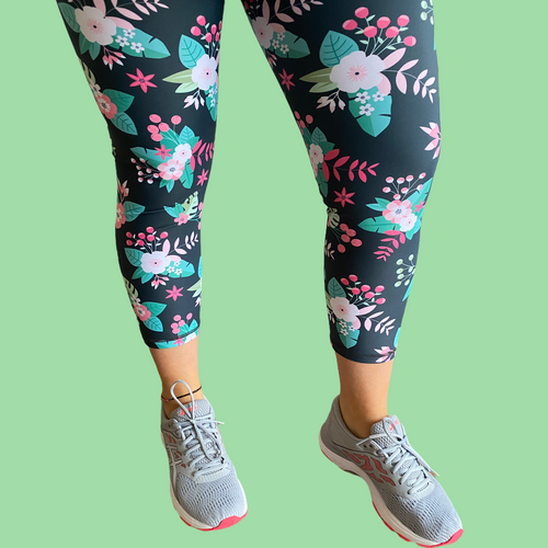Blossom Capri Women's Activewear Leggings