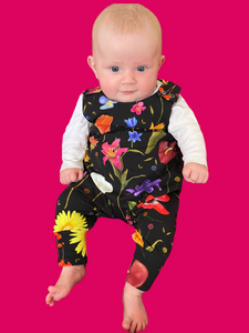 Happy Flowers (without faces) Dungarees -