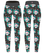 "Load image into Gallery viewer, PREORDER Tropical Skull Activewear Leggings - Tall 33"" inside leg"