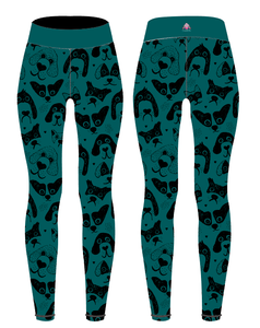 Teal Dogs Children's Active Leggings - PLEASE READ BEFORE ORDERING