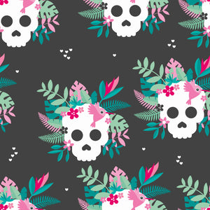PREORDER Tropical Skulls Women's Activewear Leggings Regular Length