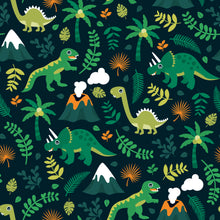 Load image into Gallery viewer, Dino & Volcano Dungarees