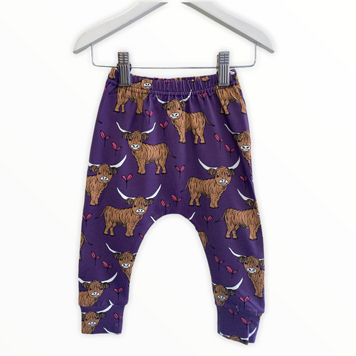 Purple Highland Cow Highland Cow Leggings