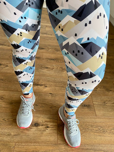 "Mountains Women's Activewear Leggings - Tall 33"" inside leg"