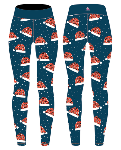 Christmas Hat Capri Women's Activewear Leggings