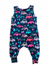 Load image into Gallery viewer, Pink Car Dungarees