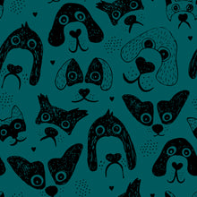 Load image into Gallery viewer, Teal Dogs Dungarees