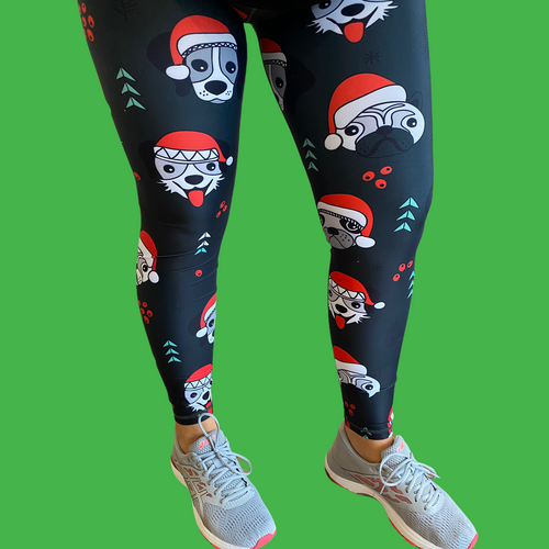 Christmas Dogs Women's Activewear Leggings Regular Length