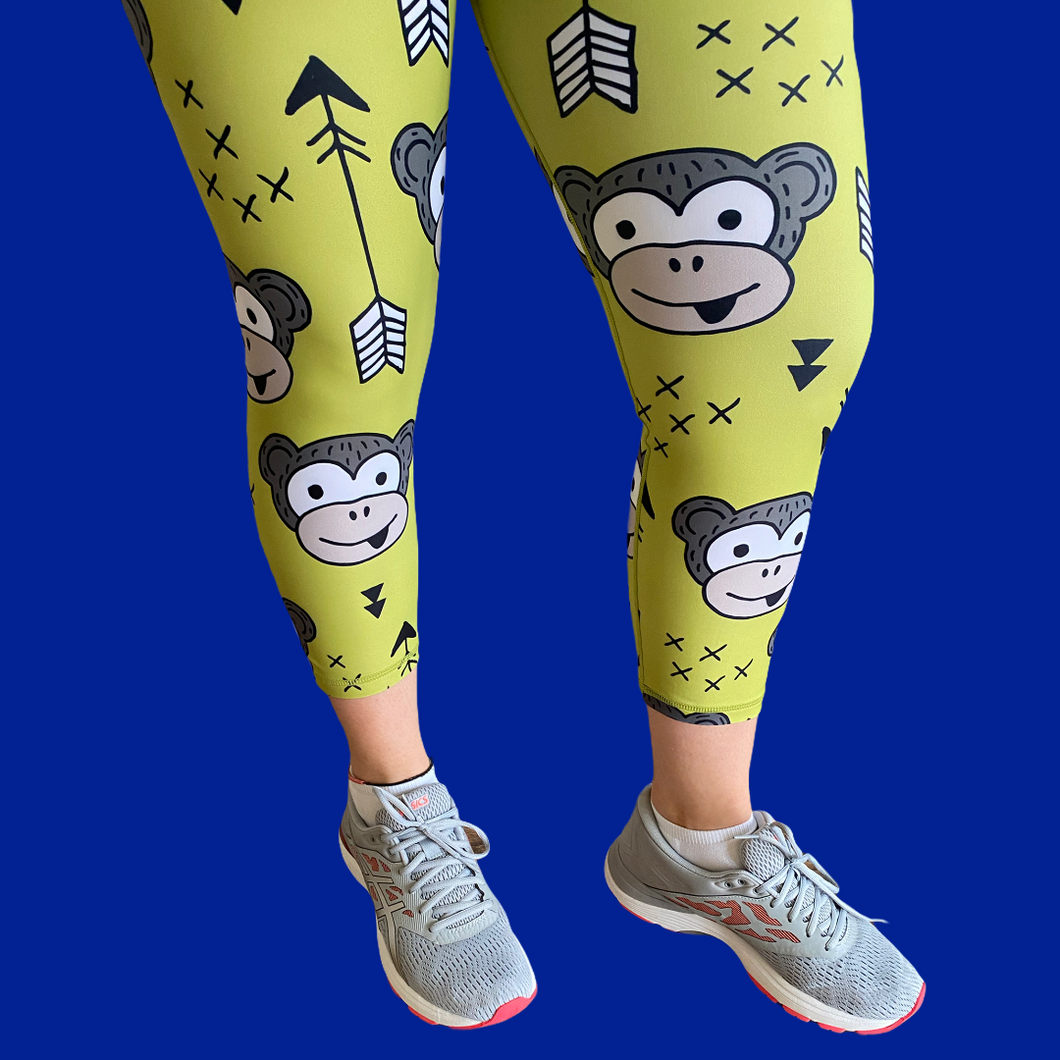 Cheeky Monkey Capri Women's Activewear Leggings