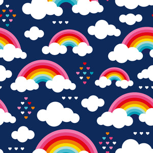 Navy Love & Rainbow Pinafore Dress - PLEASE READ BEFORE ORDERING