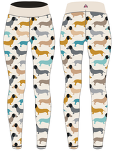 Load image into Gallery viewer, PREORDER Sausage Dog Women's Activewear Leggings Regular Length