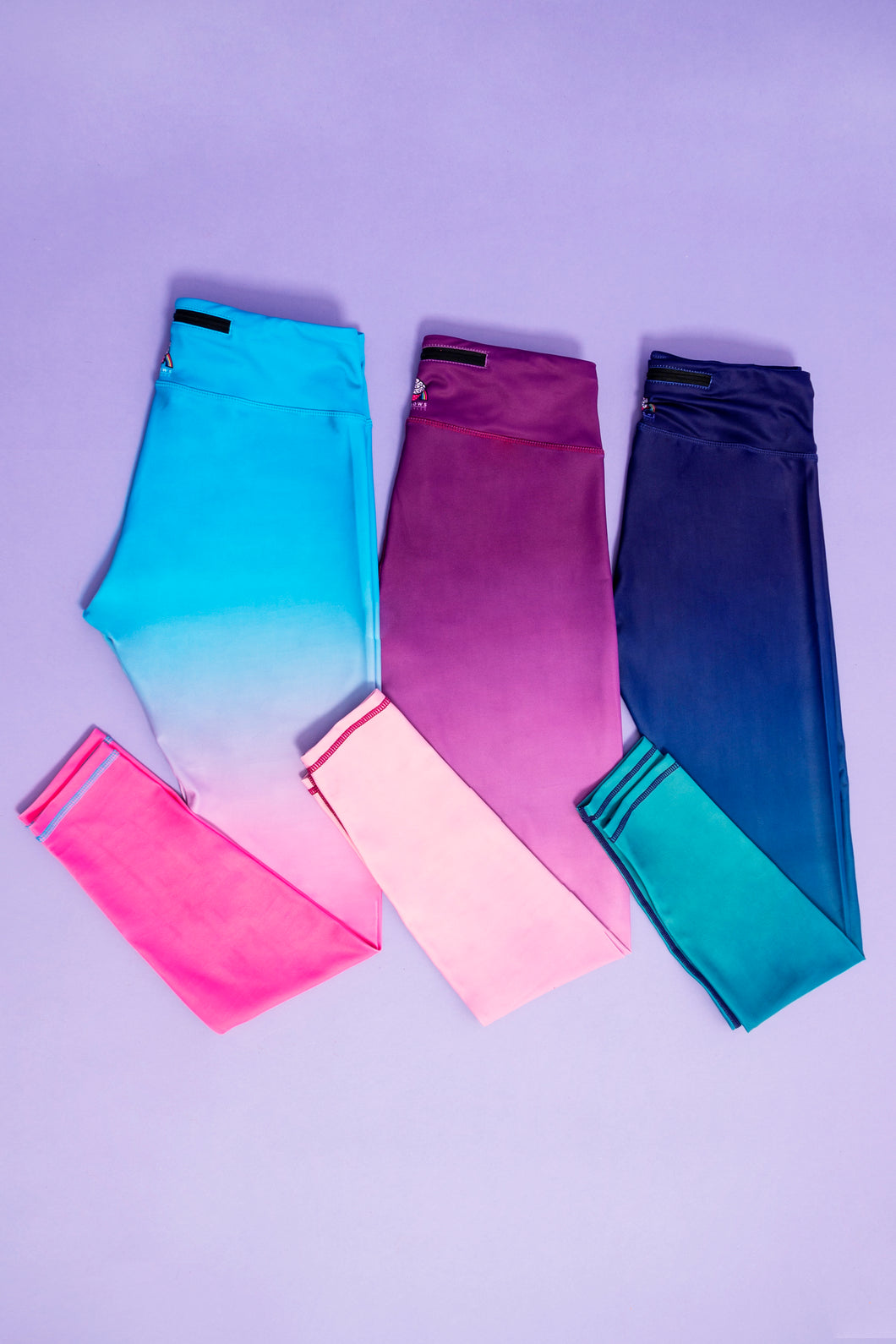 Blue/Pink Ombre Children's Active Leggings