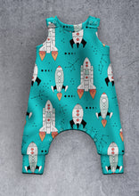 Load image into Gallery viewer, Rockets (turquoise) Dungarees