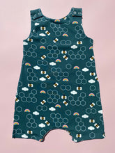 Load image into Gallery viewer, Bees & Rainbows Short Dungarees
