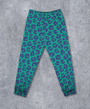 Load image into Gallery viewer, Teal & Navy Leopard Leggings