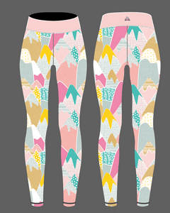 Abstract Mountains Women's Activewear Leggings Regular Length
