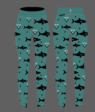 Load image into Gallery viewer, PREORDERS Geometric Shark Capri Women's Activewear Leggings
