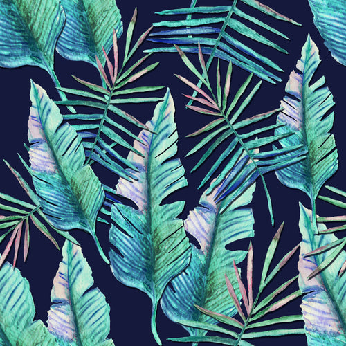 Tropical Leaves Capri Women's Activewear Leggings