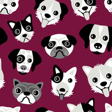 Load image into Gallery viewer, Burgundy Dogs Leggings - PLEASE READ BEFORE ORDERING