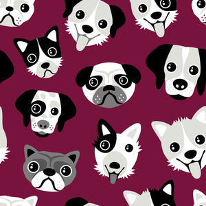 Burgundy Dogs Leggings - PLEASE READ BEFORE ORDERING