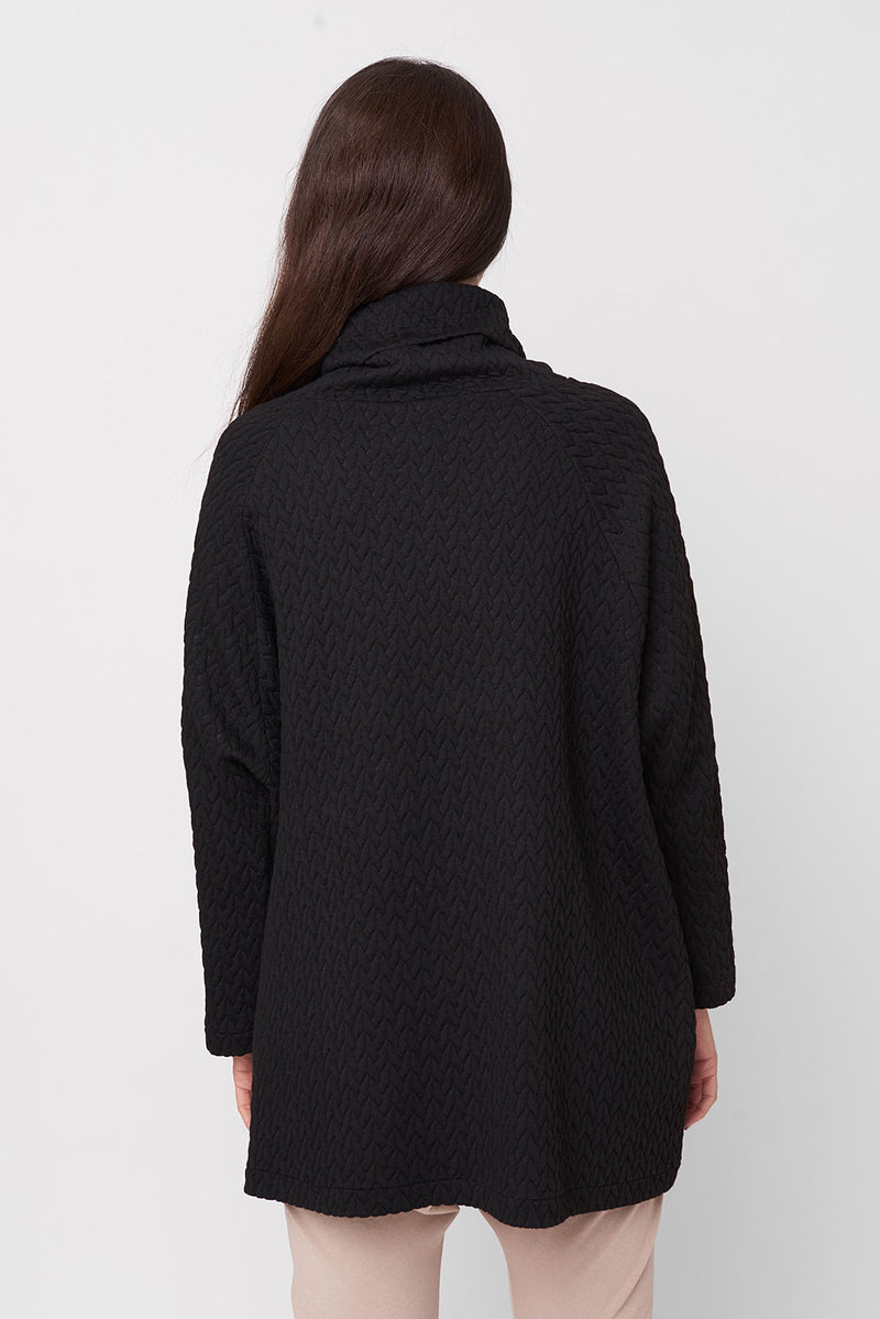 Quilt sweatshirt black