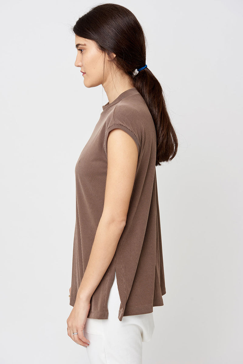 Sookie tank top brown - layou-design