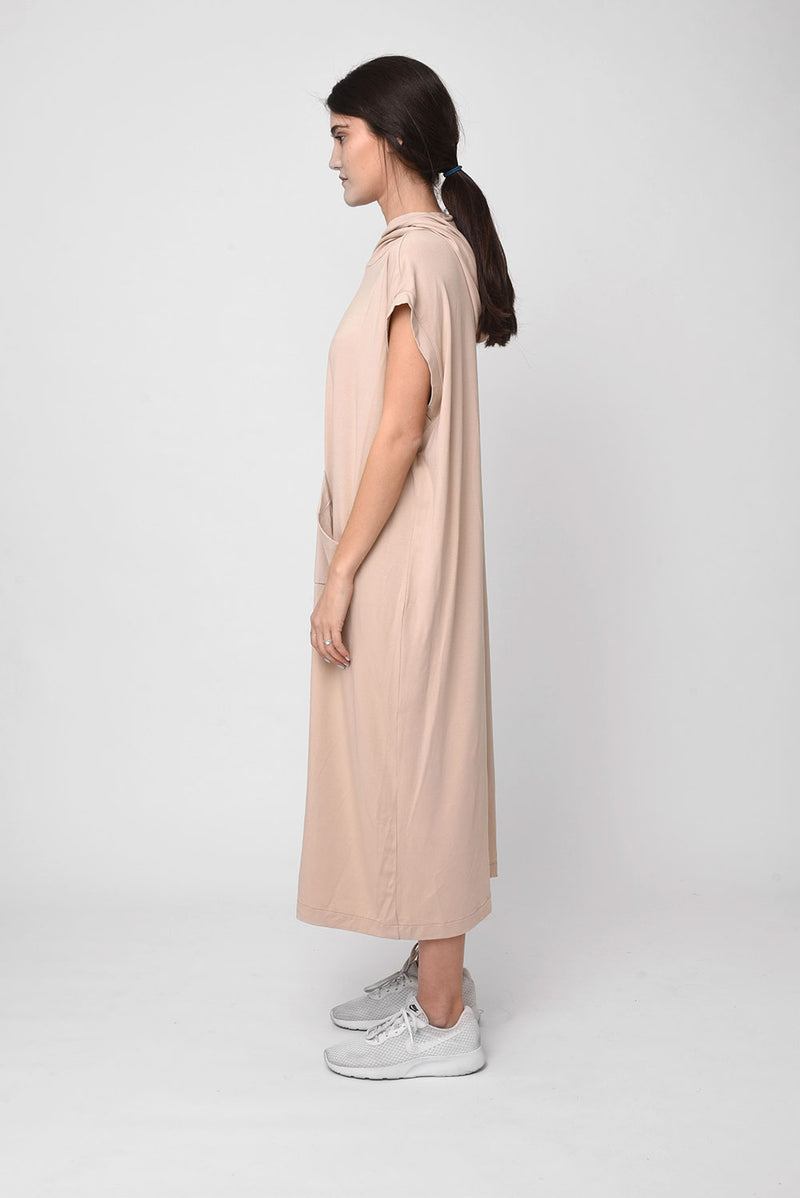 Michel dress beige - Layou Design by Shay Sobol