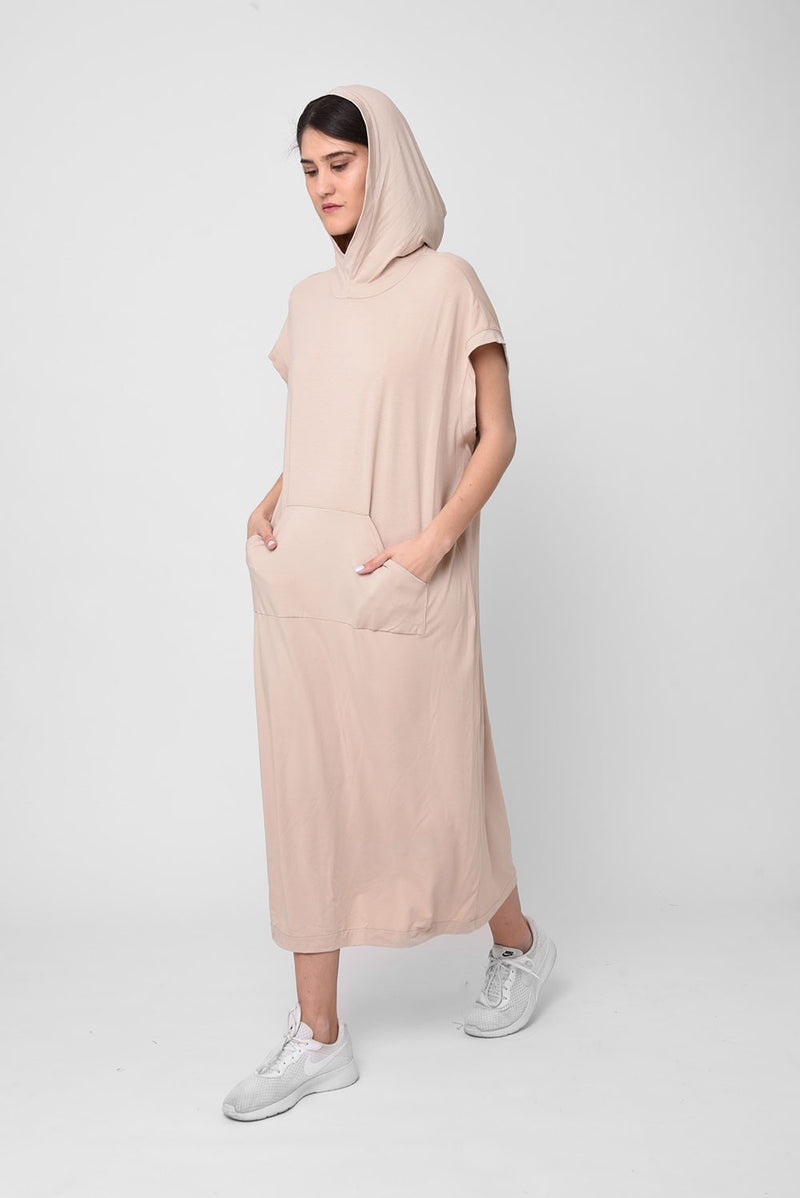 Michel dress beige - layou-design